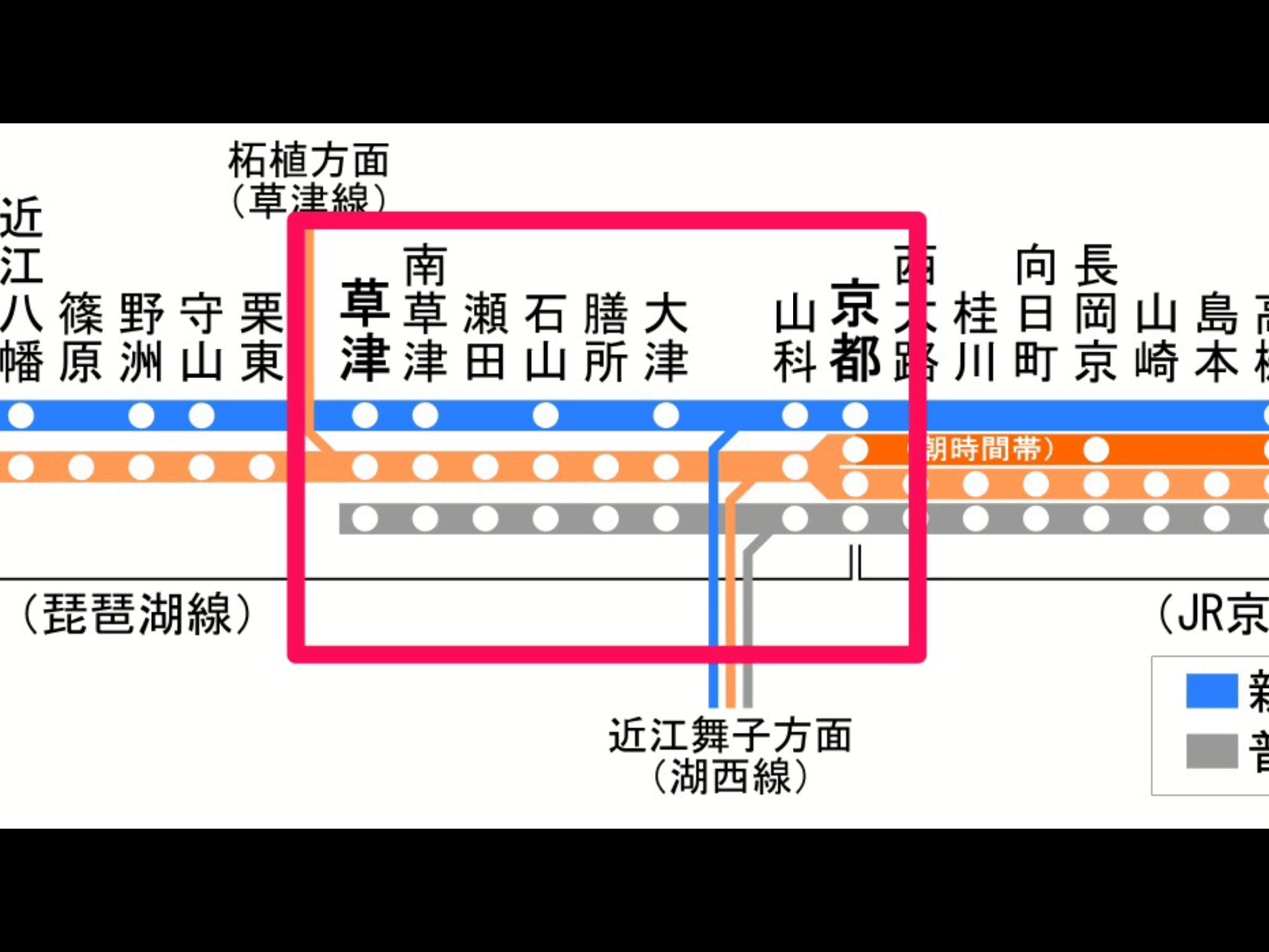 琵琶湖線の路線図