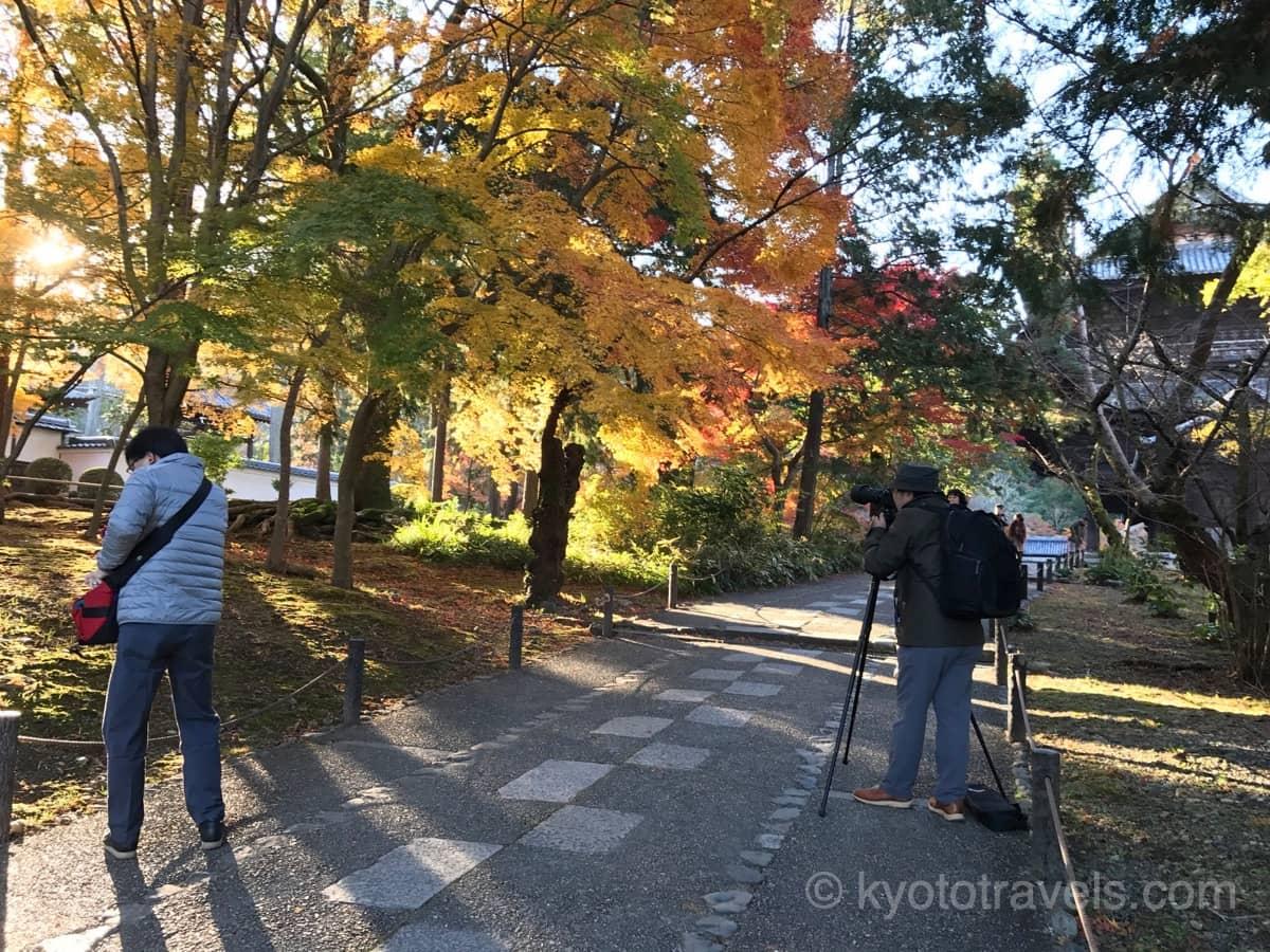 南禅寺の紅葉を撮影するカメラマン