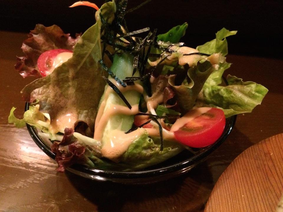 シャキシャキのサラダ